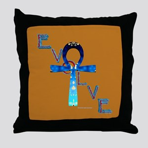 Evolve Ankh Throw Pillow